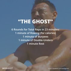 "Score is total reps after all 6 rounds, but the spirit of the workout is to try for as many reps as possible of each exercise, not just total score. CrossFit created the workout for Robert ""The Ghost"" Guerrero, to mimic a 6-round fight - each round being"