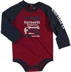Carhartt Baby-boys Infant Raglan Long Sleeve Body Shirt Handyman, Dark Red, 24 Months Carhartt,http://www.amazon.com/dp/B00BHTP4Z4/ref=cm_sw_r_pi_dp_oWCRsb1M70VCCK6N