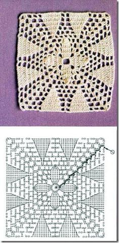 crochet square patterns and how to follow the instruction sketch