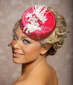 Pink Pillbox Hat Bridal Hat Bridal Hair by GildedShadows on Etsy, $89.00