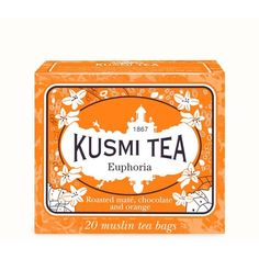 Kusmi Tea Euphoria Tea Bags (22 CAD) ❤ liked on Polyvore featuring home, kitchen & dining, kitchen gadgets & tools, orange and kusmi tea