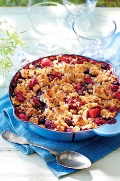 July 2016 Recipes: Berry Cobbler with Pecan Sandie Streusel
