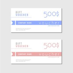 Gift Certificate Voucher Template Beauteous Vector Voucher Template With Premium Minimal Style Pattern  Gift .