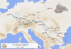 Route of the Orient Express Orient Express, Ronald Reagan, High Quality Images, Stockholm, Istanbul, Places To Go, Washington, Europe, America
