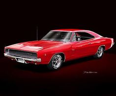 """""""1968 Dodge Charger RT"""" by Danny Whitfield"""
