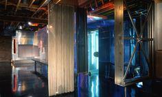 Decorative wire curtain installation @ Club Sugar