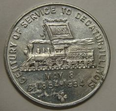 Wabash Railroad commerative coin Photo by Matt Honnold Decatur Illinois