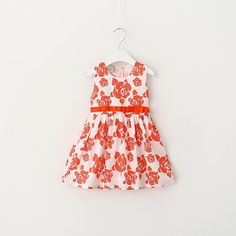 Find More Dresses Information about Everweekend 2016 New Kids Girls Flower Print Spring Summer Dress Sleeveless Cotton Party Dress Bows Casual Dress 6pcs/lot Wholes,High Quality dress people,China dresses halter Suppliers, Cheap dress sword from Everweekend Clothing Co.,Ltd on Aliexpress.com