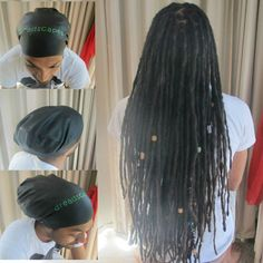 Dreadlock swimming cap Dread swim cap Braids, long hair and afro cap for water FREE SHIPPING - I have this & it works! Best investment ever!