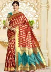 Buy an excelent range of womens sarees. Order this delightsome art silk maroon traditional designer saree for festival and party. Lehenga Saree, Banarasi Sarees, Sari, Blouse Styles, Blouse Designs, Green Saree, Stylish Sarees, Casual Saree, Designer Sarees Online