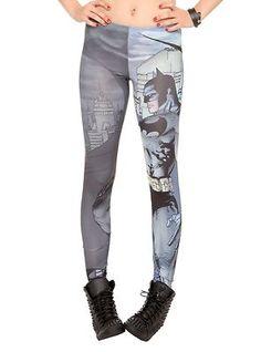 BATMAN LEGGINGS XL licensed Jim Lee DC comics yoga pants geek nerd comic book