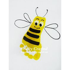 Bumble Bee Foot Just an idea to inspire creative hand and foot prints on plates, mugs etc at www.TheFunkyTeapot.co.uk