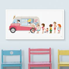 Poster - Ice Cream Bus (panorama)