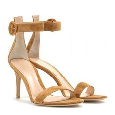 Gianvito Rossi - Portofino suede sandals #shoes #covetme #loveshoes #shoesaddict #style #designer #fashion #gianvitorossi