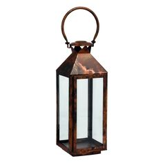 Riado Mogador Classic Tall Burnish Copper Lantern has a minimalism style. These traditional style lanterns are found all over the luxury homes and hotels and are great to light the entrance, the yard, or simply cluster around the pool, at sunset.