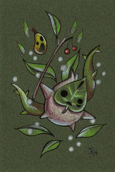 dessin Original de 4 x 6 Zelda Wind Waker Makar