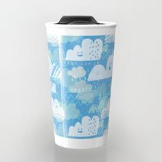 Funny Little Clouds Travel Mug