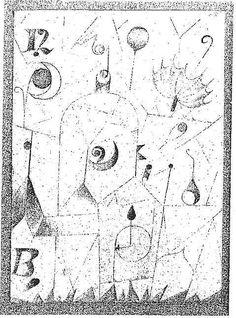 Paul Klee  'Hieroglyph with Parasol' 1917