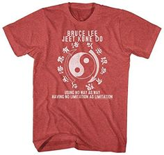 Bruce Lee Chinese Martial Arts Icon Jeet Kune Do Adult T-Shirt, Medium, Red - http://www.exercisejoy.com/bruce-lee-chinese-martial-arts-icon-jeet-kune-do-adult-t-shirt-medium-red/martial-arts/