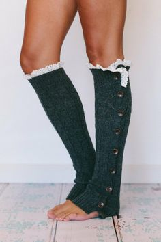 Lace knitted leg warmers...who knew leg warmers could be so cute