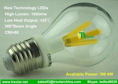 3W 4W E27 Warm White & Cold White Filament LED Bulb from TR Solar High Lumen & High CRI & Low Heat  sales03@trsolarchina.com www.trsolar.net skype: ledled8630