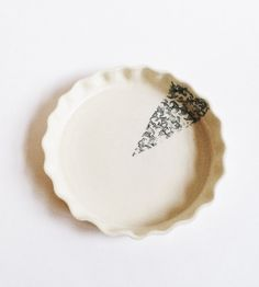 Vine Wedge Ceramic Pie Plate by Ceramics by Lina LaV on Scoutmob Shoppe