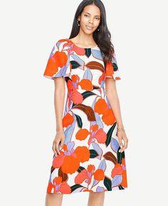 #Ann Taylor - #Ann Taylor Ann Taylor Petite Bold Blooms Dress - AdoreWe.com