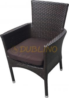 DL RITZ BRUSHED BROWN - Polyratanový exteriérové křeslo Lounges, Armchair, Brown, Furniture, Home Decor, Sofa Chair, Single Sofa, Decoration Home, Room Decor