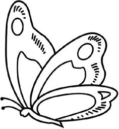 Black White Butterfly Coloring Pages