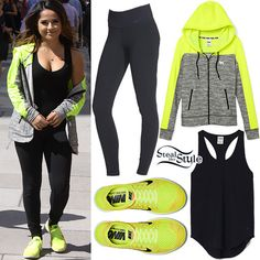 a394c092108 Becky G  Neon Green Hoodie   Sneakers Cute Edgy Fashion
