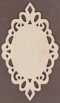 WT1947-Laser cut Lacy Oval Plaque