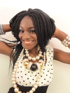 Protective style - box braids - bob To learn how to grow your hair longer click here - http://blackhair.cc/1jSY2ux