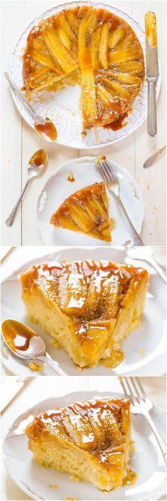 Caramelized Banana Upside-Down Cake - Have ripe bananas? This cake has their…