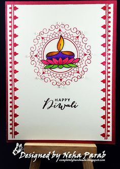 Today I'm back again with Diwali theme cards. If you have just dropped all my Diwali cards here. Handmade Diwali Greeting Cards, Diwali Cards, Diwali Diya, Diwali Greetings, Handmade Birthday Cards, Handmade Cards, Handmade Gifts, Kids Zone, Quilling Cards