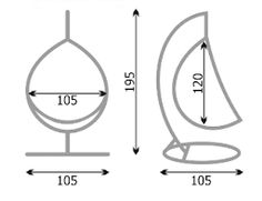 Картинки по запросу подвесное кресло размеры