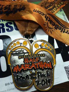Myrtle Beach half marathon finisher medal