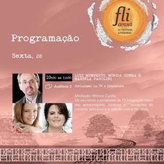 Programação completa em www.fliaraxa.com.br