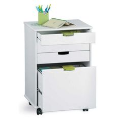 Mobile 4-Drawer Storage Cart with File