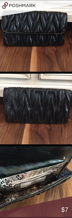 Black Clutch Worn twice in great condition. Bags Clutches & Wristlets