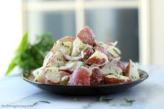 Light and Healthy Mixed Herb Potato Salad | Foodness Gracious