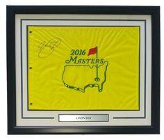 Jason Day Signed Framed 2016 Masters Golf Flag PSA LOA AB12886