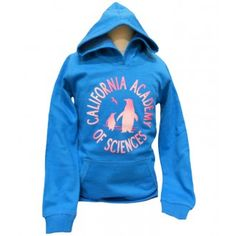 Just for kids! California Academy of Sciences Youth hoodie, made of 100% preshrunk cotton.