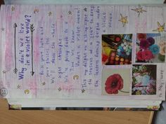 "This is one of the page from my smashbook)) So, I love violet color and this song "" Under a violet moon"""