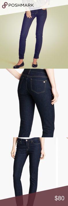 Kate Spade Broome Street Jeans Indigo wash, skinny style, spade detail on back pocket kate spade Jeans Skinny