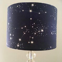Constellations lamp shade night sky starry night by RooEllieStudio