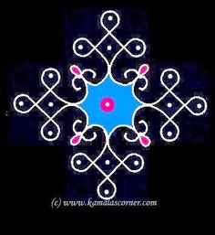 Simple 7-1 dots (straight) Kolam