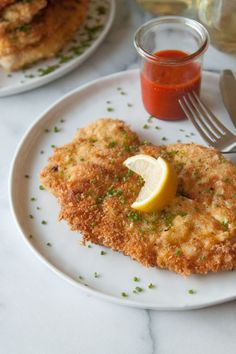 Chicken Schnitzel   What's Gaby Cooking -- love her simple, easy-to-follow instructions for this!