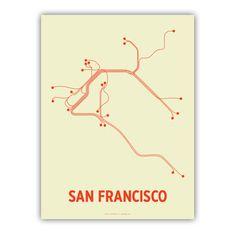 Mass transit Made Art by Lineposters (Cayla Ferari & John Breznicky)