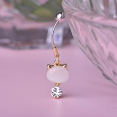 Perfect the Cat Lover in You! Item Type: Body Jewelry Fine or Fashion: Fashion Style: Trendy Body Jewelry Type: Navel & Bell Button Rings Mat Jewelry Tattoo, Jewelry Art, Jewelry Accessories, Piercing Ring, Belly Button Piercing, Belly Button Jewelry, Belly Button Rings, Belly Rings, Toe Rings