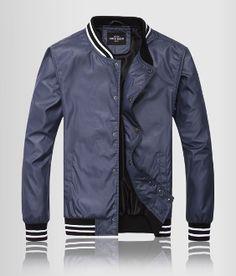 Mens Varsity Jacket with Stripe Detail